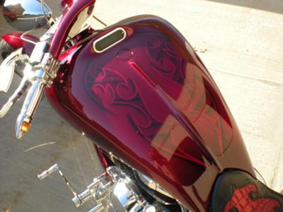 Custom Pro street Chopper with Custom graphics & dakota digital gauge