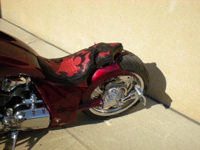 Custom Pro street Chopper Rear end with passenger pillon
