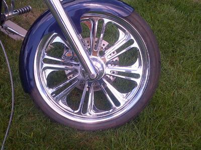 West Coast Chopper Wheels on Custom Pro Street Chopper Motorcycle