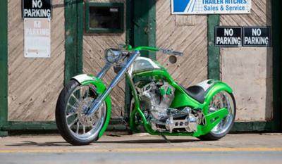 Candy Apple Green Custom Pro Street Motorcycle  (example only; please contact seller for pics)