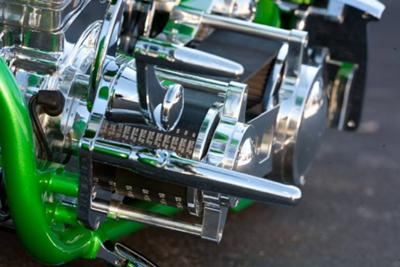 Candy Apple Green Custom Pro Street Motorcycle Belt (example only; please contact seller for pics)