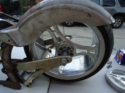 Custom Ron Simms Motorcycles Fender, Wheel and Tire