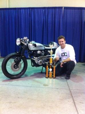 Award Winning Custom Silver Bullet Motorcycle