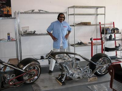 Custom Built Diamond Chassis Chopper Frame and Lusso Wheel
