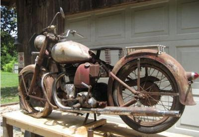 Fully restorable 1948 Indian Motorcycle
