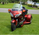 Metallic Orange 2007 Honda Goldwing GL1800 Trike by Champion