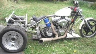 Harley Davidson Drag Trike Motorcycle with 114 inch 4 valve heads for saley by owner