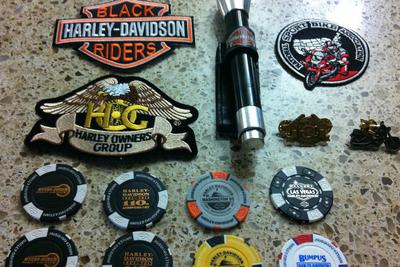Collectible Harley Davidson Motorcycle Jacket Patches and Pins Set for Sale