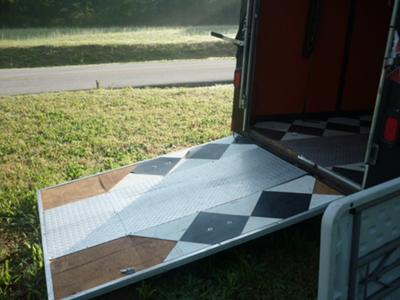 HARLEY DAVIDSON TOY HAULER ENCLOSED MOTORCYCLE CAMPER TRAILER RAMP