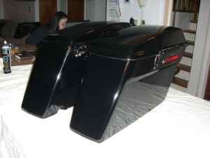 Harley Davidson Vivid Black Touring Saddlebags (example only)
