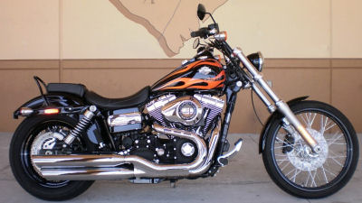 Item:2010 Harley Davidson Dyna FXR FXDWG Black Custom Paint Flames Flamed Super Glide Wide