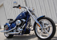 2009 HARLEY SOFTAIL ROCKER C chopper bobber factory stock FXCWC blue