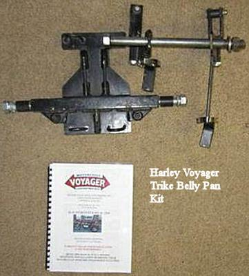 Harley Voyager Trike Belly Pan Kit Parts and Hardware