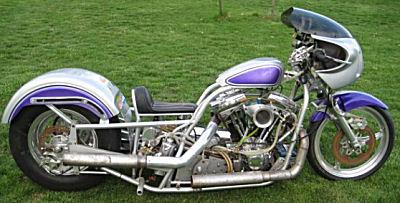 Harley Davidson HD Drag Bike Pro Modified Motorcycle w Chromoly frame, 119 ci Harley Davidson motor  200 hp