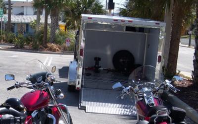 Enclosed 2010 Homesteader Ez Rider Motorcycle Trailer 7' x 12'