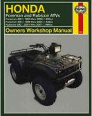 Honda Foreman Rubicon TRX ATV 1995 1996 1997 1998 1999 2000 2001 2002 2003 2004 2005 2006 2007 New Haynes Manual atv owner repair service