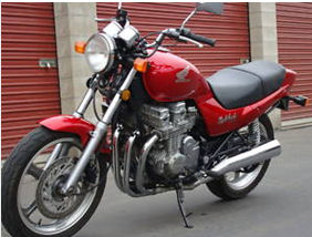Red 1991 Honda Nighthawk CB750