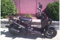 2009 Honda Ruckus motor scooter black chrome