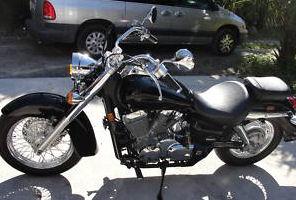 Black 2008 Honda Shadow AERO