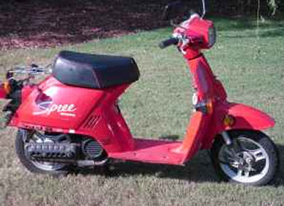 1986 Honda Spree Scooter (this photo is for example only; please contact seller for pics of the actual motor scooter for sale in this classified)