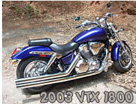 2003 honda vtx 1800 motorcycle royal blue custom customized metallic paint