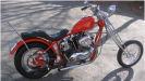 red old school 1967 Harley-Davidson Sportster Hardtail Chopper