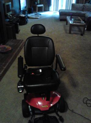 Jazzy Select Elite Scooter (this photo is for example only; please contact seller for pics of the actual motor scooter for sale in this classified)