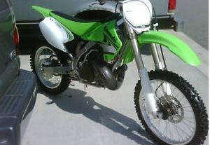 lime green and white KX250R dirt bike dirtbike 2007 Kawasaki KX