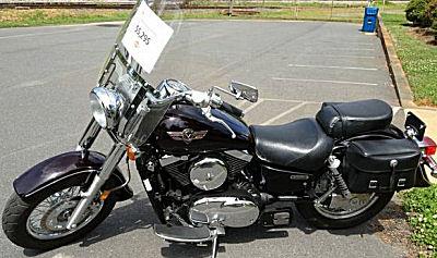 2003 Kawasaki Vulcan 1500 Classic with black cherry metallic paint