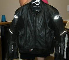 black leather joe rocket man motorcycle jacket