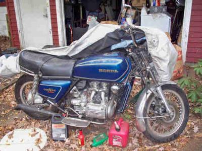 Blue 1977 Honda Goldwing