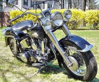 Fully restored old 1959 Harley Davidson FLH motorcycle