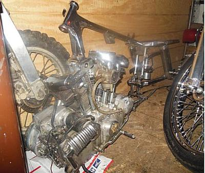 Old School Harley Ironhead Sportster Basket Case on 1971 Ironhead Sportster