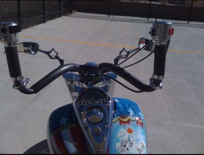 One of a Kind AVIATOR themed custom painted chopper fuel tank