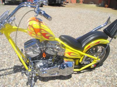 2001 custom chopper motorcycle fuel tank rear
