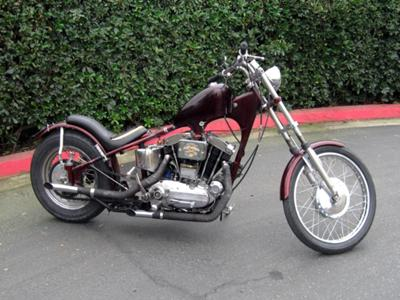 1958 HARLEY DAVIDSON XLCH in an EARLY PLUNGER FRAME in an early plunger frame