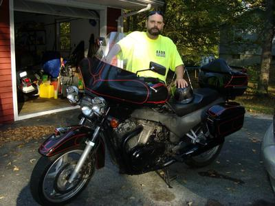 Picture of My 1993 Suzuki VX800 and Me