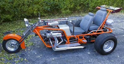 Custom V8 Trike with a Chevrolet 350 Motor