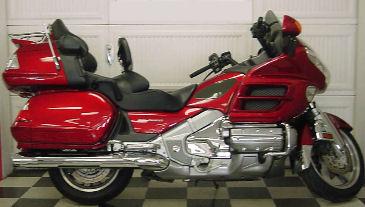 Metallic Red 2008 Honda Goldwing Touring Motorcycle