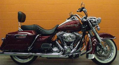 Red Hot Sunglo 2009 Harley FLHR Road King Base Motorcycle