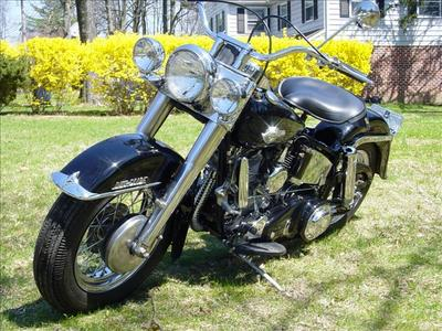 Old Restored 1959 Harley Davidson  HD FLH motorcycle