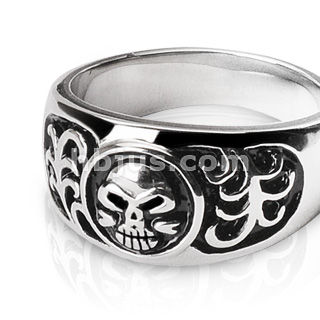 Harley Davidson Rings on Stainless Steel Harley Davidson Ring For Sale
