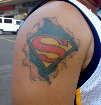 superman logo tattoo. Black Bedroom Furniture Sets. Home Design Ideas