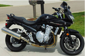 black 2007 Suzuki Bandit 1250S Black Motorcycle