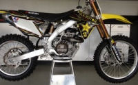 Yellow 2012 Suzuki RMZ 450 dirt bike