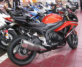 2009 SUZUKI GSXR 600 GSX-R600 ORANGE and BLACK GSXR600