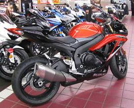 2009 SUZUKI GSXR 600 GSX-R600 ORANGE and BLACK GSXR600
