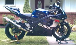Cobalt Blue and Black 2005 Suzuki GSXR 750 GPS Cruise Control