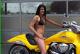 bright yellow 2008 Suzuki Boulevard M109R Limited Edition babe