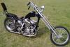 Black 1949 Harley Davidson Panhead Chopper